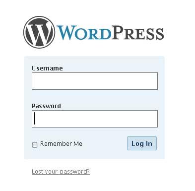 Login wordpress 2.5