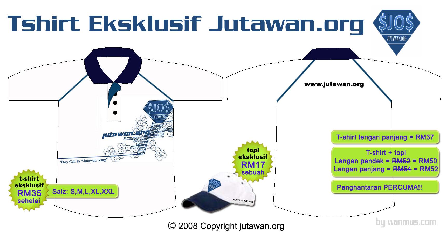 Tshirt eksklusif jutawan dot org