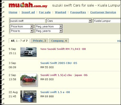 Cars For Sale In Malaysia Mudahmy Related Posts