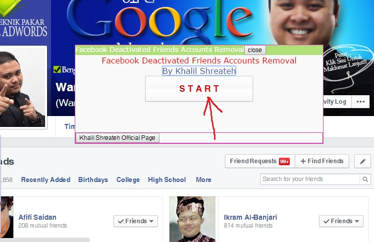 how to remove inactive friends on facebook cara buang friend tak aktif di facebook reach friends limit